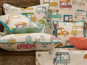 cameretta bambini tessuti tende tendaggi aldo verdi milano